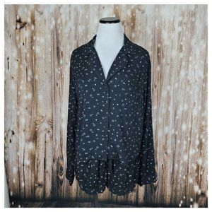 Rails Short Pajamas in Black Scribble Stars M